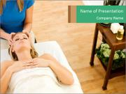 Face massage PowerPoint Templates