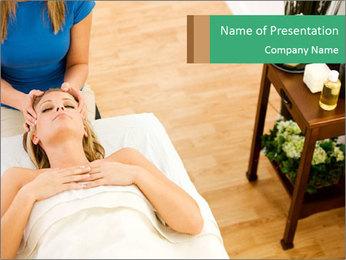 Face massage PowerPoint Template - Slide 1