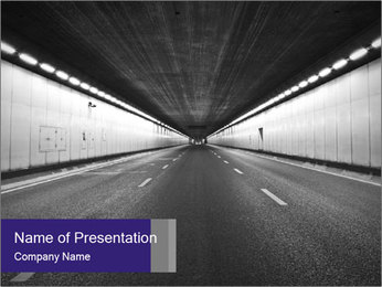 The tunnel at night PowerPoint Templates - Slide 1