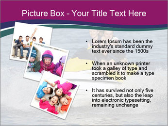 Happy smiling caucasian couple riding jet ski PowerPoint Template - Slide 17