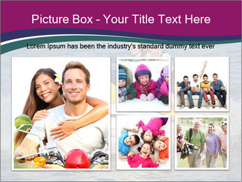 Happy smiling caucasian couple riding jet ski PowerPoint Template - Slide 19