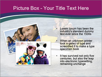 Happy smiling caucasian couple riding jet ski PowerPoint Templates - Slide 20
