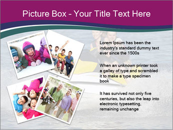 Happy smiling caucasian couple riding jet ski PowerPoint Template - Slide 23