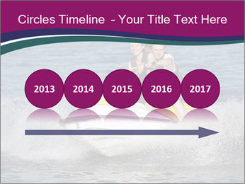 Happy smiling caucasian couple riding jet ski PowerPoint Templates - Slide 29