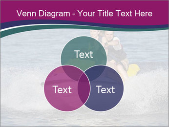 Happy smiling caucasian couple riding jet ski PowerPoint Template - Slide 33
