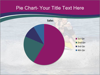 Happy smiling caucasian couple riding jet ski PowerPoint Template - Slide 36