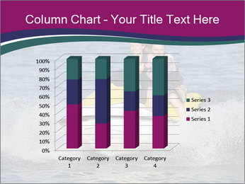 Happy smiling caucasian couple riding jet ski PowerPoint Template - Slide 50