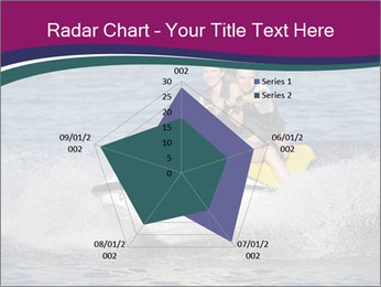 Happy smiling caucasian couple riding jet ski PowerPoint Template - Slide 51