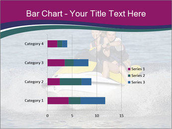 Happy smiling caucasian couple riding jet ski PowerPoint Template - Slide 52