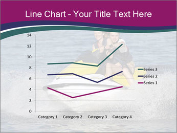 Happy smiling caucasian couple riding jet ski PowerPoint Template - Slide 54