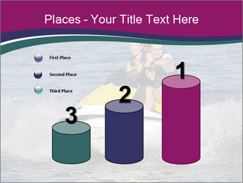 Happy smiling caucasian couple riding jet ski PowerPoint Templates - Slide 65