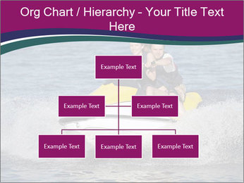 Happy smiling caucasian couple riding jet ski PowerPoint Template - Slide 66