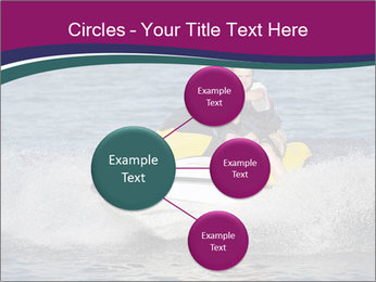 Happy smiling caucasian couple riding jet ski PowerPoint Template - Slide 79