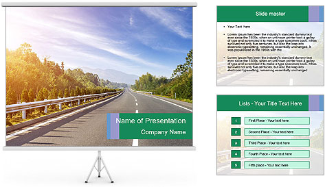 Newly built highway PowerPoint Template