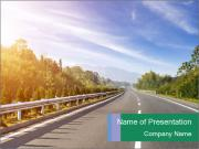 Newly built highway PowerPoint Templates