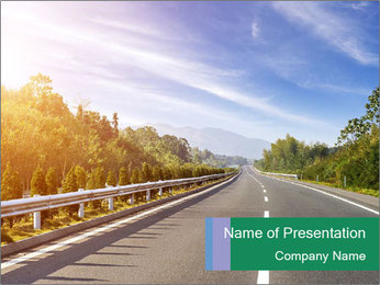 Newly built highway PowerPoint Template - Slide 1
