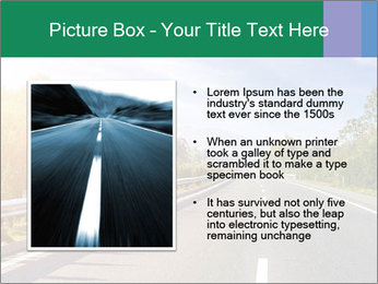 Newly built highway PowerPoint Template - Slide 13