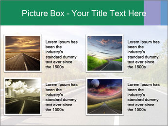 Newly built highway PowerPoint Template - Slide 14