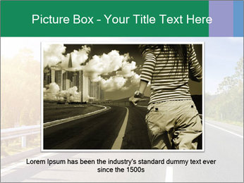 Newly built highway PowerPoint Template - Slide 15