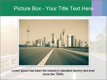 Newly built highway PowerPoint Template - Slide 16