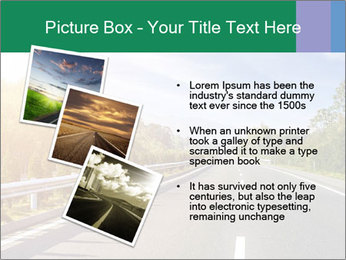 Newly built highway PowerPoint Template - Slide 17