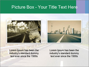Newly built highway PowerPoint Template - Slide 18
