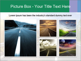 Newly built highway PowerPoint Template - Slide 19
