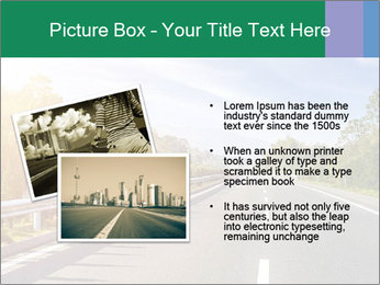 Newly built highway PowerPoint Template - Slide 20