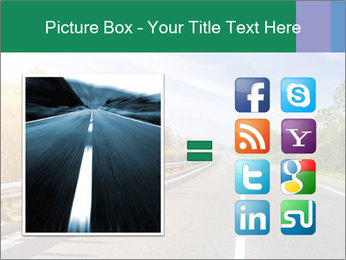 Newly built highway PowerPoint Template - Slide 21