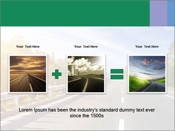 Newly built highway PowerPoint Template - Slide 22
