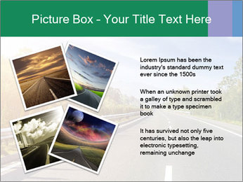 Newly built highway PowerPoint Template - Slide 23
