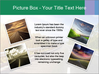 Newly built highway PowerPoint Template - Slide 24