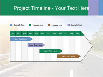 Newly built highway PowerPoint Template - Slide 25