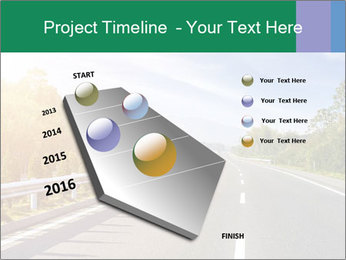 Newly built highway PowerPoint Template - Slide 26