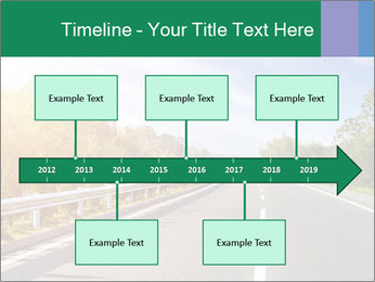 Newly built highway PowerPoint Template - Slide 28