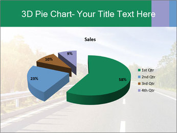 Newly built highway PowerPoint Template - Slide 35