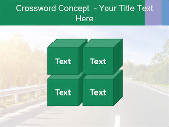 Newly built highway PowerPoint Template - Slide 39