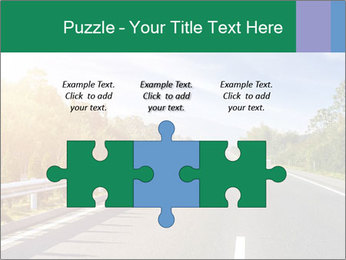 Newly built highway PowerPoint Template - Slide 42