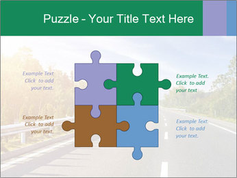 Newly built highway PowerPoint Template - Slide 43