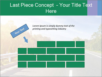 Newly built highway PowerPoint Template - Slide 46
