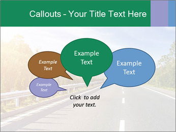 Newly built highway PowerPoint Template - Slide 73