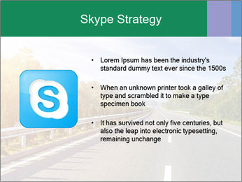 Newly built highway PowerPoint Template - Slide 8