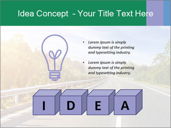 Newly built highway PowerPoint Template - Slide 80