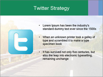 Newly built highway PowerPoint Template - Slide 9
