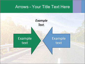 Newly built highway PowerPoint Template - Slide 90