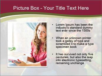 Young woman using a smart phone PowerPoint Template - Slide 13