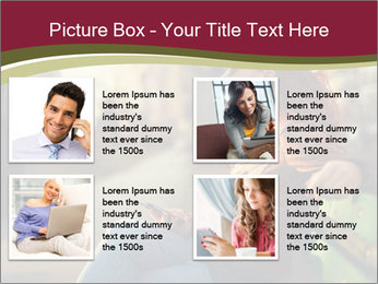 Young woman using a smart phone PowerPoint Template - Slide 14