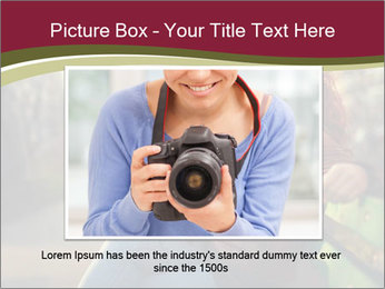 Young woman using a smart phone PowerPoint Template - Slide 15