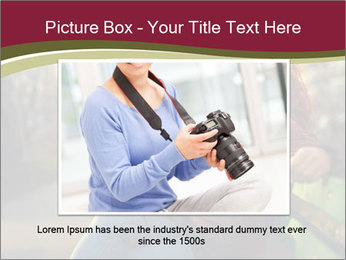 Young woman using a smart phone PowerPoint Template - Slide 16