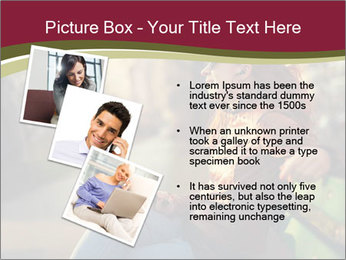 Young woman using a smart phone PowerPoint Template - Slide 17